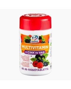 1x1 Vitaday multivitamin + cink, vas rágótabletta erdeigyümölcs ízű 60x