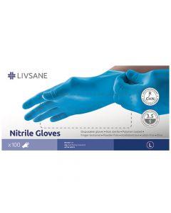 Livsane nitril kesztyű L 100x