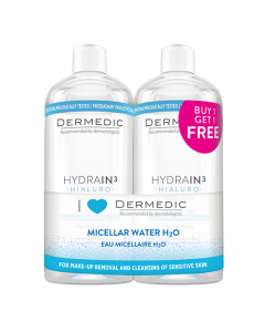 DERMEDIC Hydrain micellás víz H2O 2x500ml