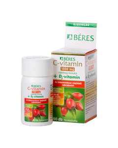 Béres C-vitamin 1000 mg filmtabletta csipkebogyó kivonattal + D3-vitamin 50x