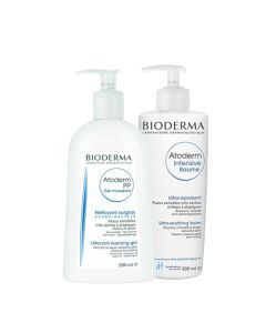 BIODERMA Atoderm csomag Intensive bőrápoló 2x500ml