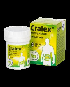 Cralex kemény kapszula (Carbo medicinalis) 25x