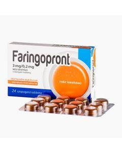 Faringopront 3mg/0,2mg méz ízesítésű szopogató tabletta 24x