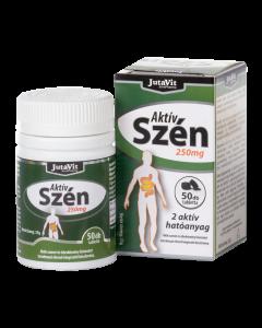 JutaVit Aktív szén 250 mg tabletta 50x