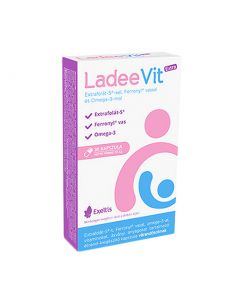 Ladeevit Extra kapszula Extrafolát-S-sel, Feronyl vassal+Omega-3 30x