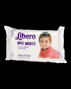 Libero Sensitive nedves törlőkendő 64x