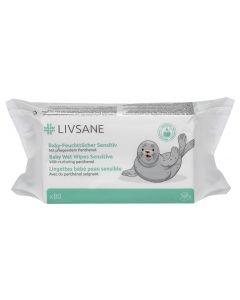 LIVSANE nedves törlőkendő érzékeny bőrű babáknak 80x