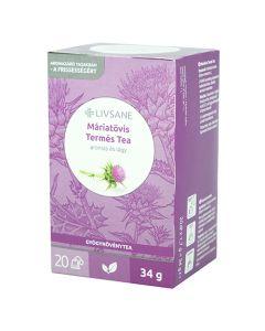 Livsane Máriatövis termés filteres tea 20x