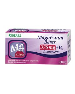 Magnézium Béres 375mg+B6 filmtabletta  60x