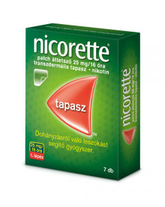 Nicorette patch áttetsző 25 mg/16 óra transzdermális tapasz 7x | BENU Gyógyszertár Webshop