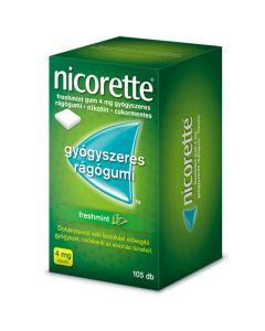 Nicorette Freshmint gum 4 mg gyógyszeres rágógumi 105x