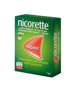Nicorette patch áttetsző 10 mg/16 óra transzdermális tapasz 7x