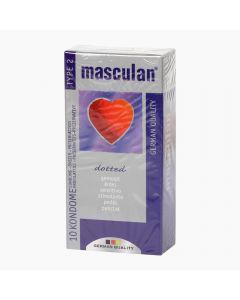 Masculan 2 Dotted óvszer 10x
