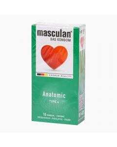 Masculan 4 Anatomic óvszer 10x
