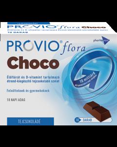 Provio Flora choco étrendkiegészítő tejcsokoládé szelet 10x