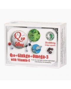 DR.CHEN Q10 Ginkgo Omega-3 E vitamin kapszula 30x