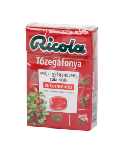 Ricola Cranberry cukormentes cukorka 40g
