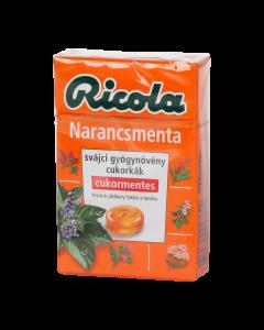 Ricola Orange Mint cukormentes cukorka 40g