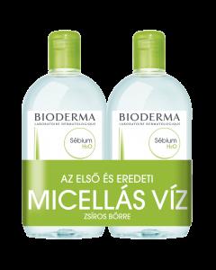BIODERMA Sébium H2O arc és sminklemosó zsíros bőr micellás víz DUO 2x250ml