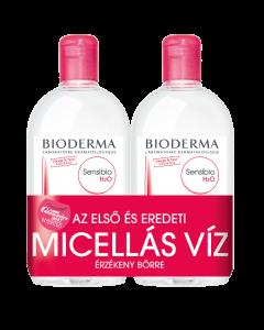 BIODERMA Sensibio H2O arc és sminklemosó micellás víz DUO 2x500ml