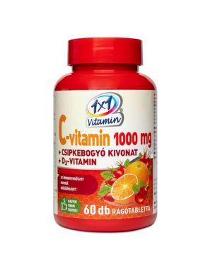1x1 Vitaday C vitamin 1000mg D3 + csipkebogyó rágótabletta 60x