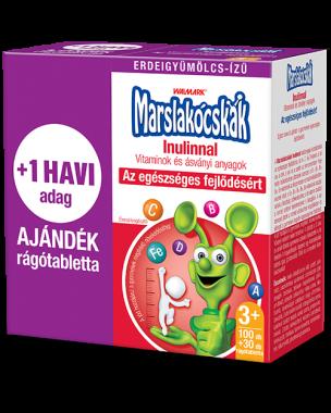 Walmark Marslakócskák Inulinnal rágótabletta erdeigyümölcs ízű 100x+30x