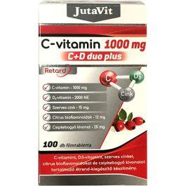 JutaVit C-vitamin 1000mg C+D DUO Plus retard filmtabletta 100x